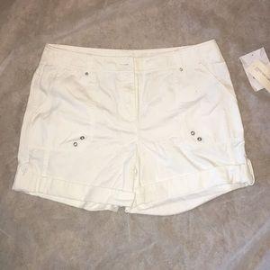 Jones New York White Shorts